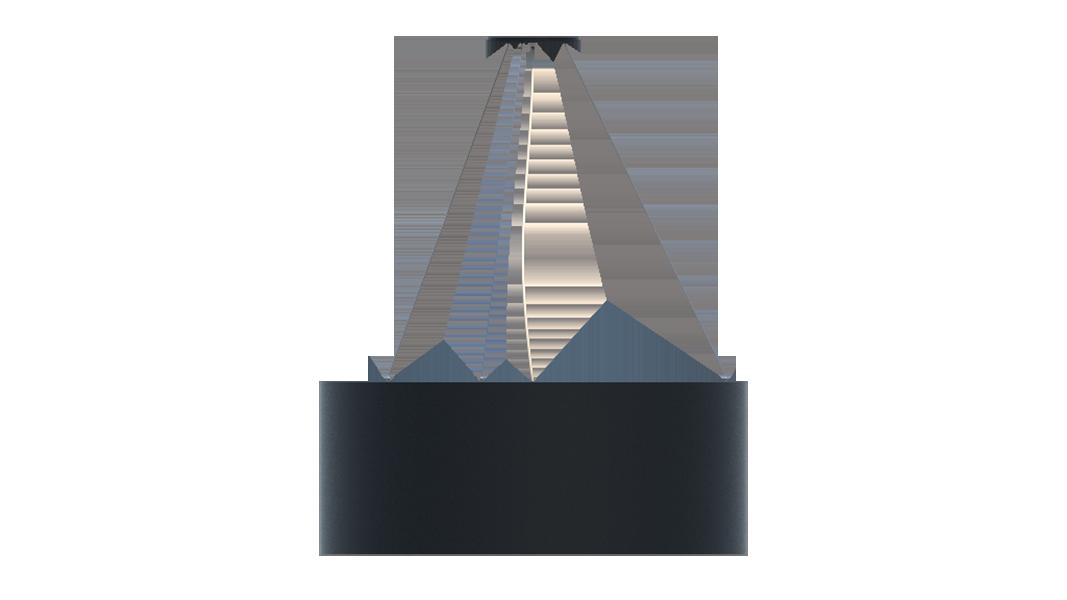 Lustre Pendente cilíndrico 60x22cm em Madeira Preto ou Branco