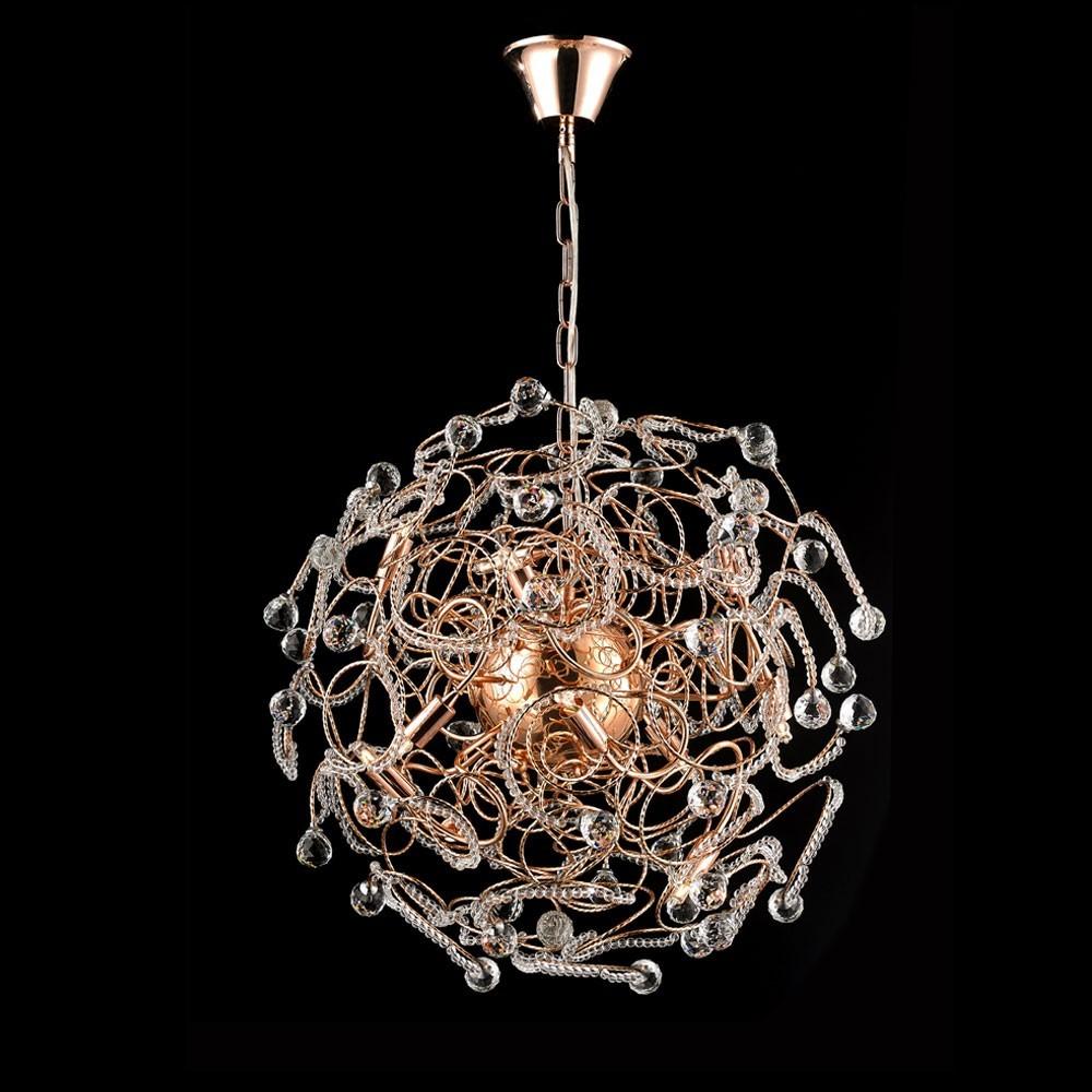 Luminaria Pendente Luz Cristal Transparente Pe 032 9 45