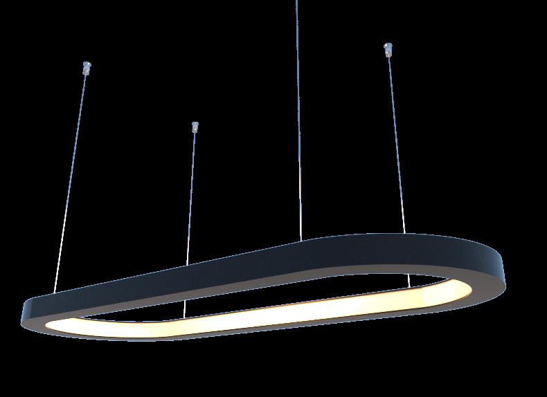 Lustre Pendente Retangular LED 35w 2700k 80cm em Madeira