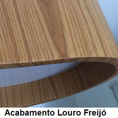 Lustre Pendente Redondo Cilíndrico 80cm em Madeira Louro Freijó