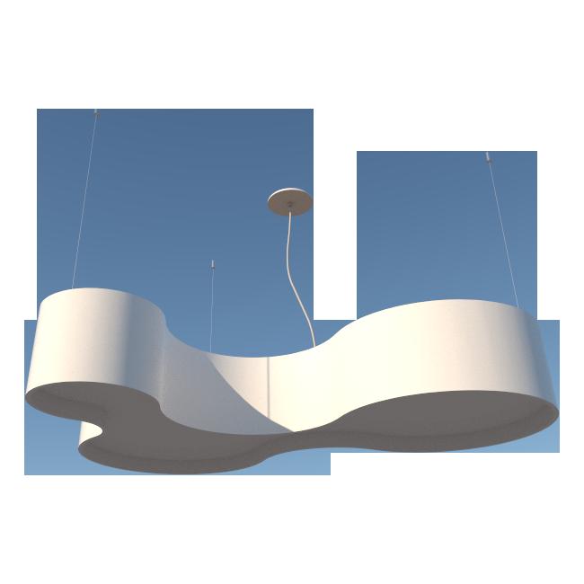 Lustre Pendente Semi Cilíndrico 100cm em Madeira Laca Branco ou Preto