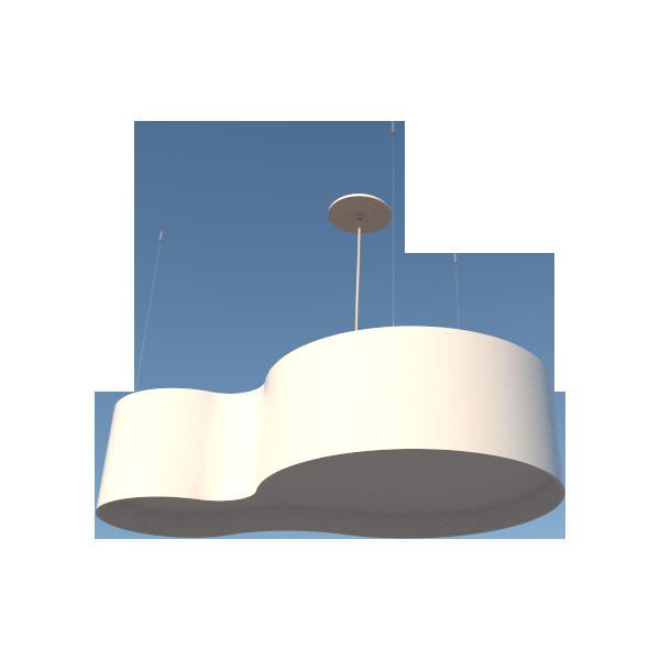 Lustre Pendente Semi cilíndrico 75cm em Madeira Branco ou Preto