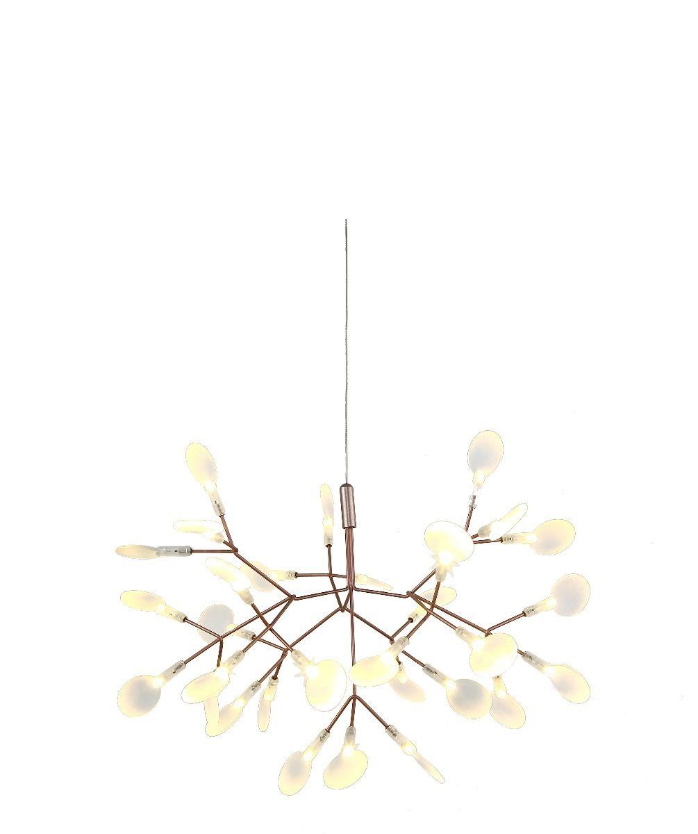 Lustre LED 15w Twing Dourado Ø51cm Mais Luz