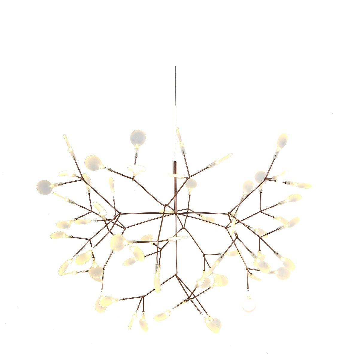 Lustre LED 22,5w Twing Dourado Ø72cm Mais Luz