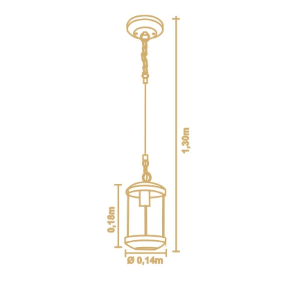 Lustre Pendente Urban 1 Lamp Madeira Castanho Madelustre