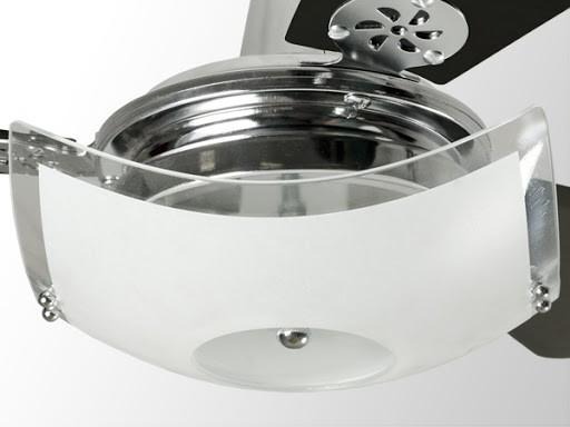 Lustre Plafon Quadrado Teto ou Ventilador de Teto Onix Cromado