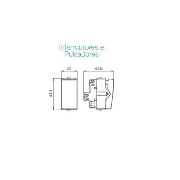 Módulo Interruptor Bipolar Simples 10A Sleek MarGirius