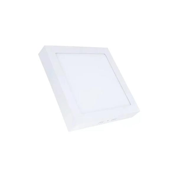 Painel Plafon Led 12w Sobrepor Quadrado Teto Branco Frio
