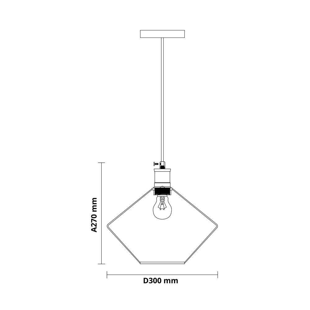 Pendente Cobre Aramado Tóquio Ø30cm BL