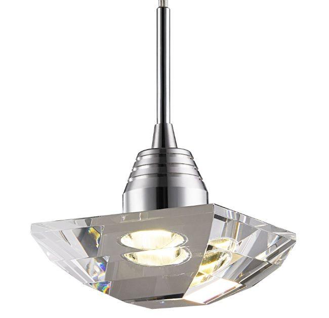 Pendente Cristal Transparente 15cm com Led 3w Integrado Mais Luz