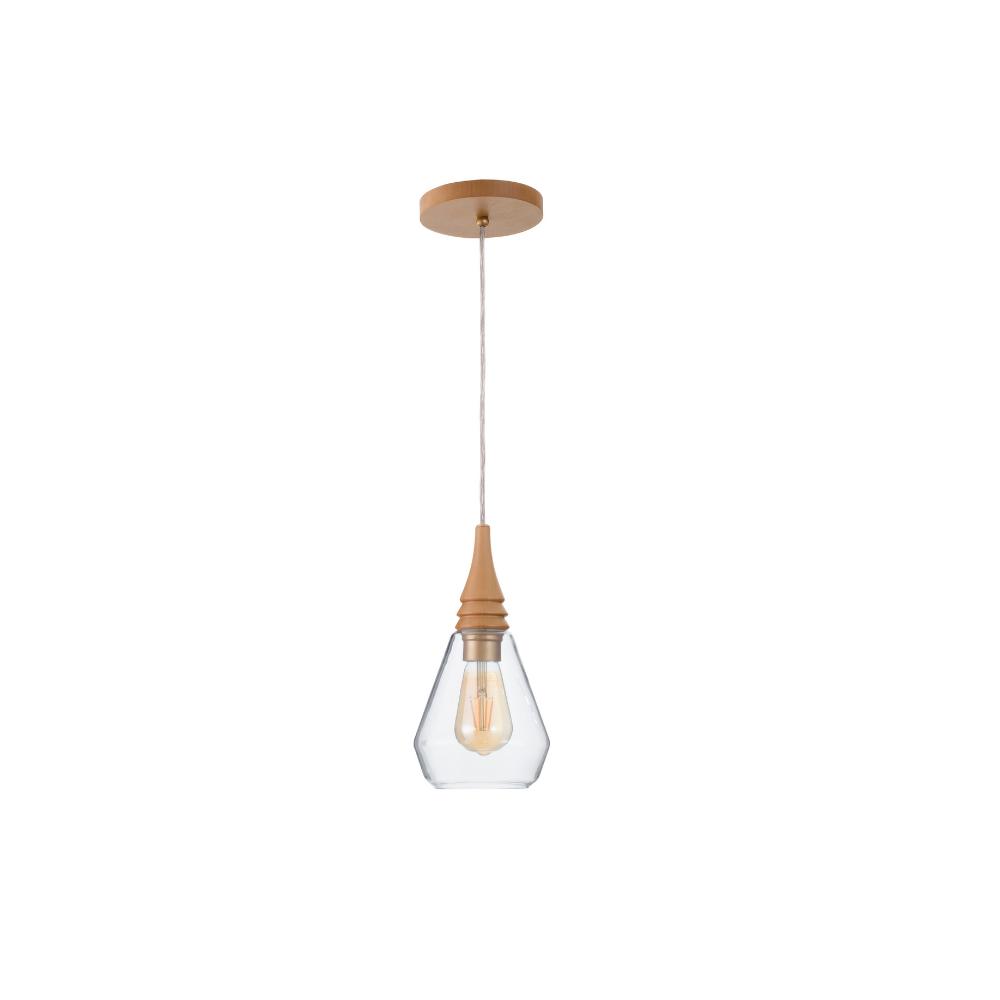 Pendente Flow Cônico 15cm 1 Lamp Castanho  Madelustre