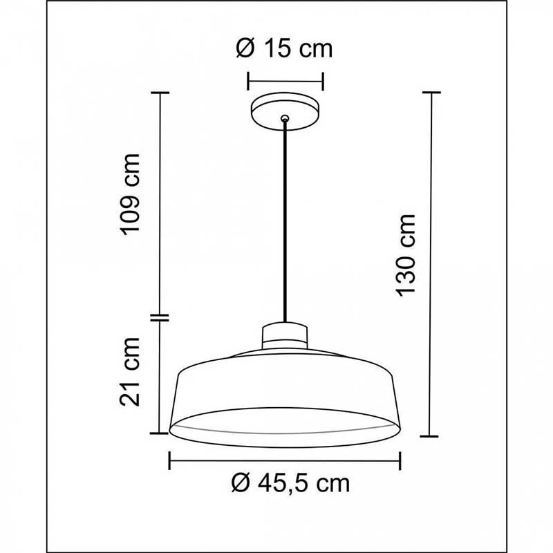 Pendente Industrial em Metal e Madeira Vibrance 45.5cm Cobre Madelustre