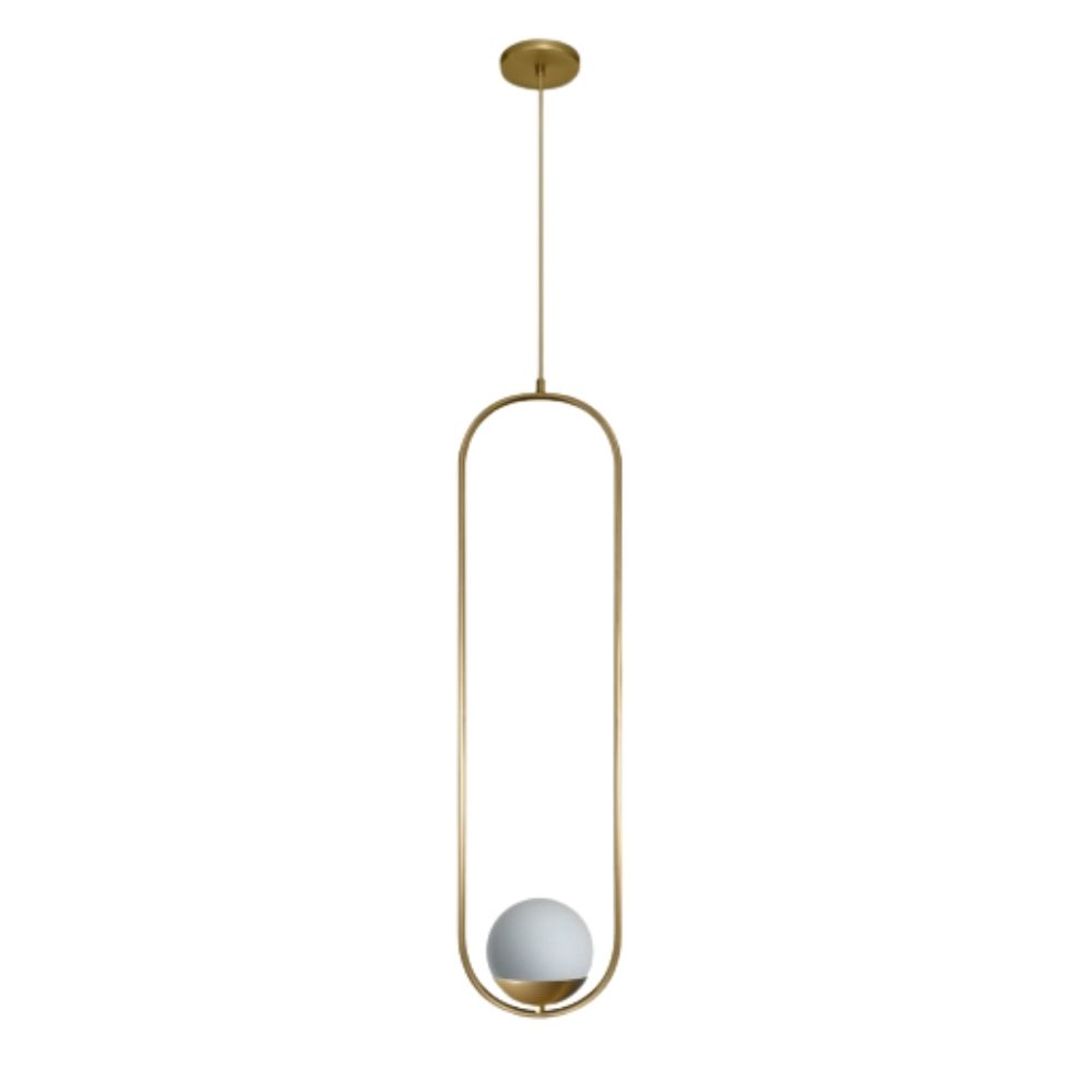 Pendente Milla Esfera G1 1xG9 79cm Dourado Champagne