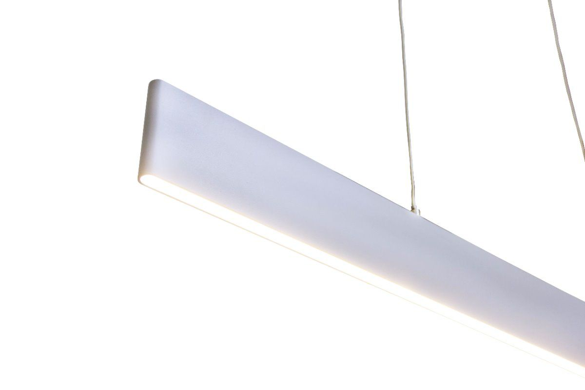 Pendente Retangular Slim Led 24w 3000k 90cm em Alumínio Branco