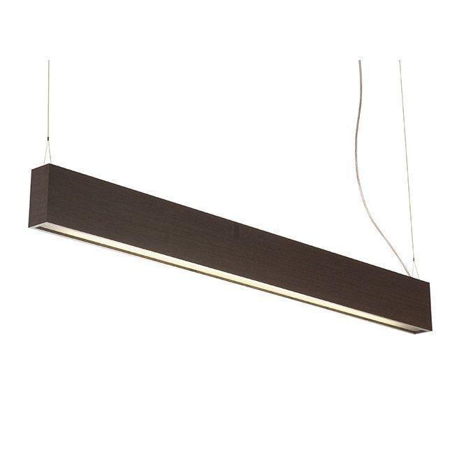 Luminária Pendente Slim Longo em Madeira 8cm x 125cm Accord 1117