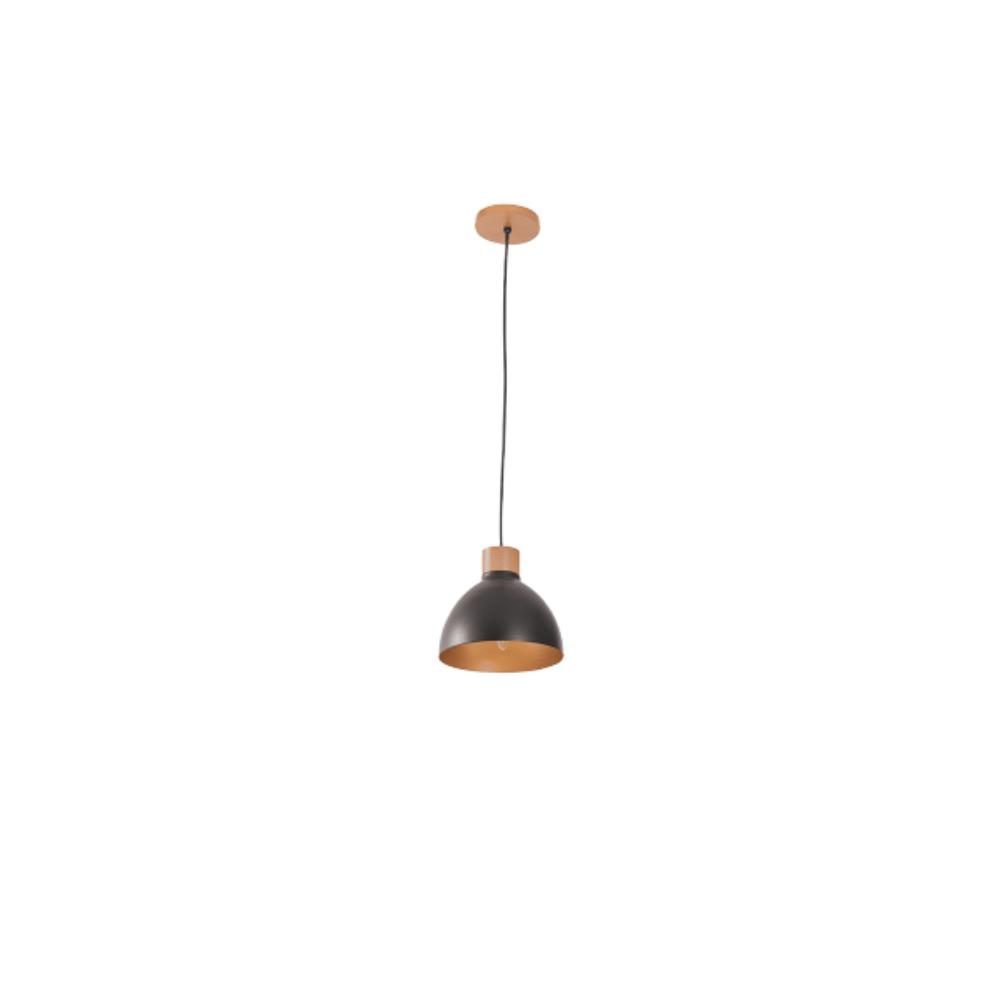 Pendente Vintage Retro Viena 20Cm 1 Lamp Castanho Preto Madelustre