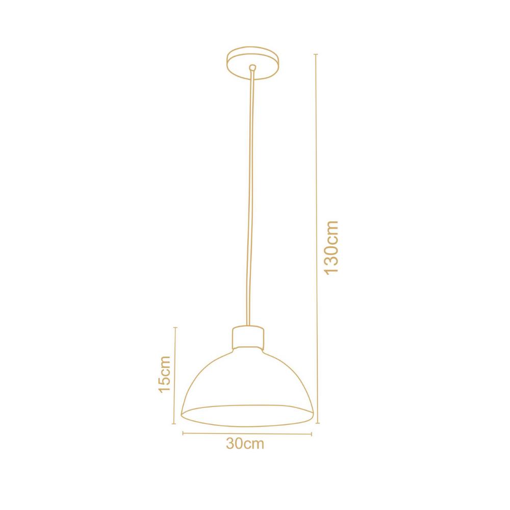 Pendente Vintage Retro Viena 30Cm 1 Lamp Castanho Preto Madelustre