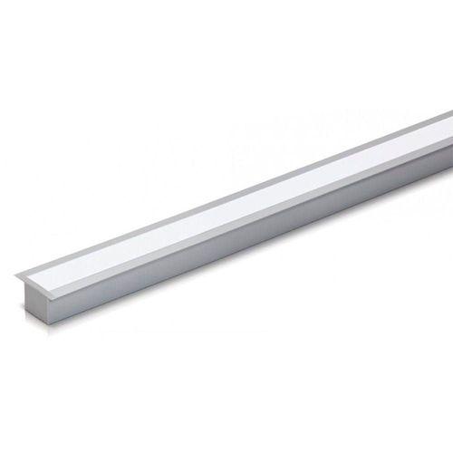 Perfil Alumínio Embutir Slim 2 Metros Para Fita Led