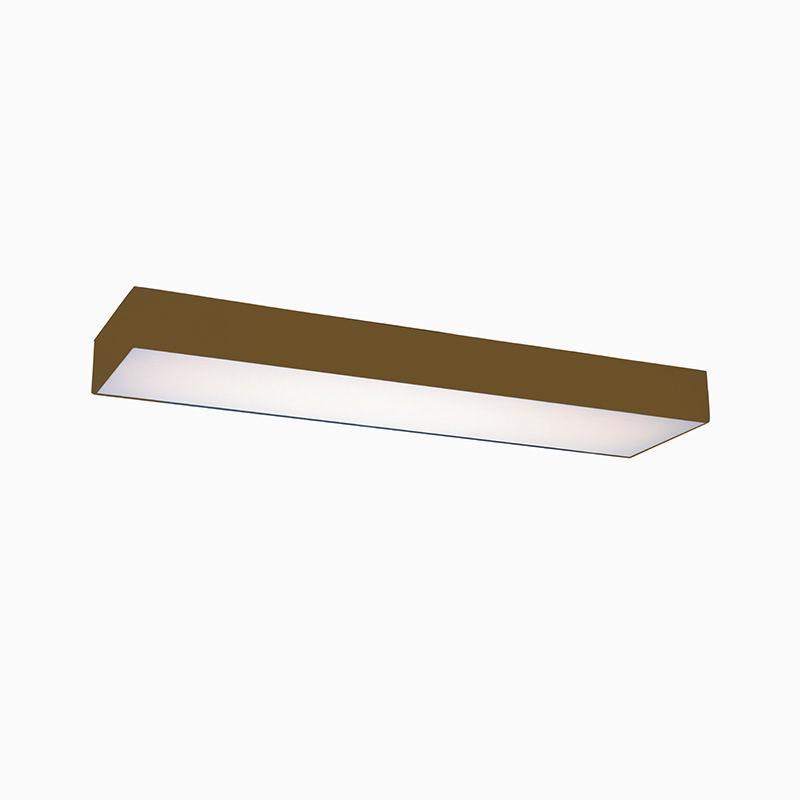Plafon Luminária Retangular LED 40w 6000k 120cm Alumínio Ouro 220v