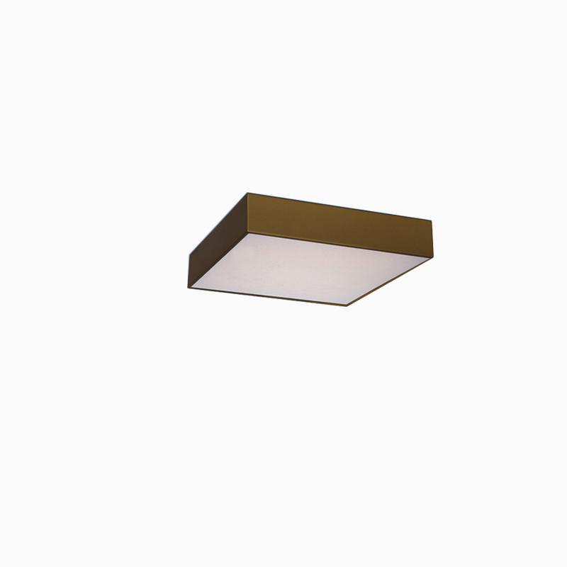 Plafon Sobrepor Quadrado LED 20w 6000k 28x28cm Alumínio Ouro 220v