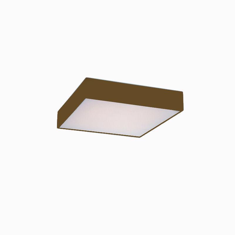 Plafon Sobrepor Quadrado LED 55w 6000k 38x38cm Alumínio Ouro 127v