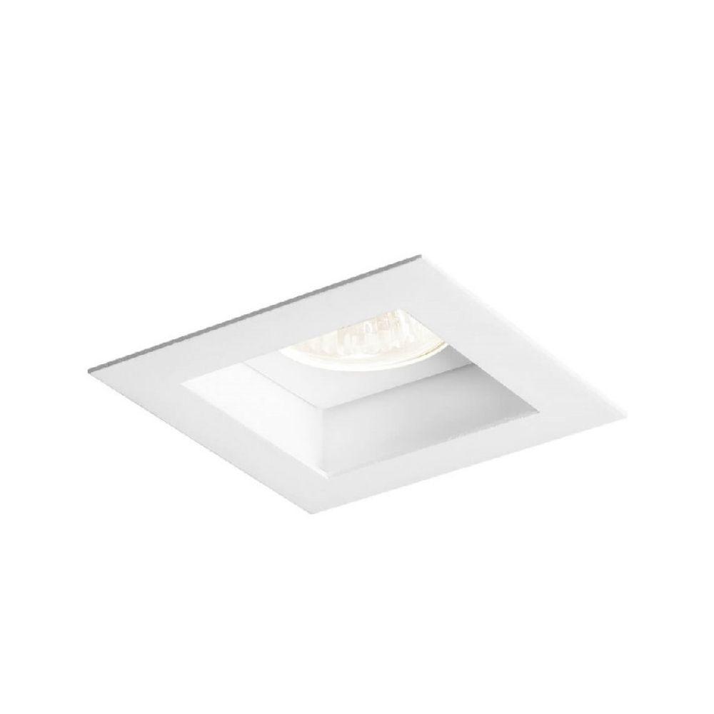 Plafon Spot Embutir Direcionável 1 Lâmpada Dicróica Branco