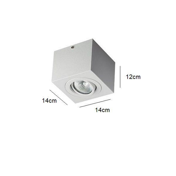 Plafon Spot Sobrepor Direcionável 1 Lâmpada Par20 Branco