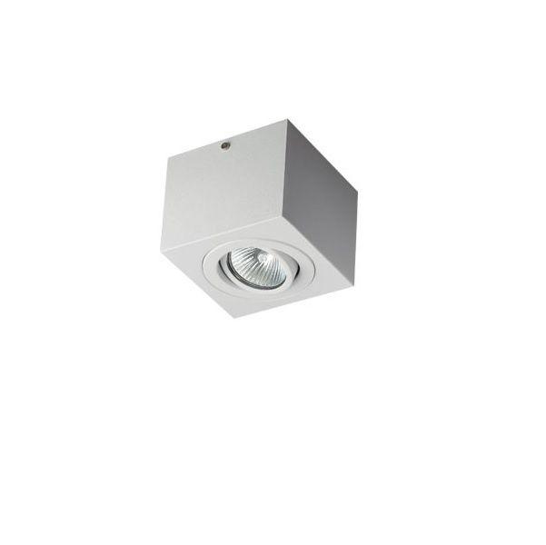 Plafon Spot Sobrepor Direcionável 1 Lâmpada Dicróica Branco