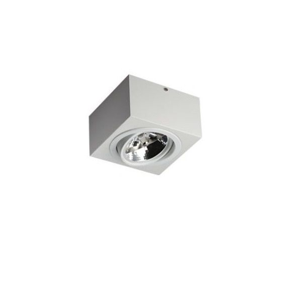 Plafon Spot Sobrepor Direcionável 1 Lâmpada AR111 Branco