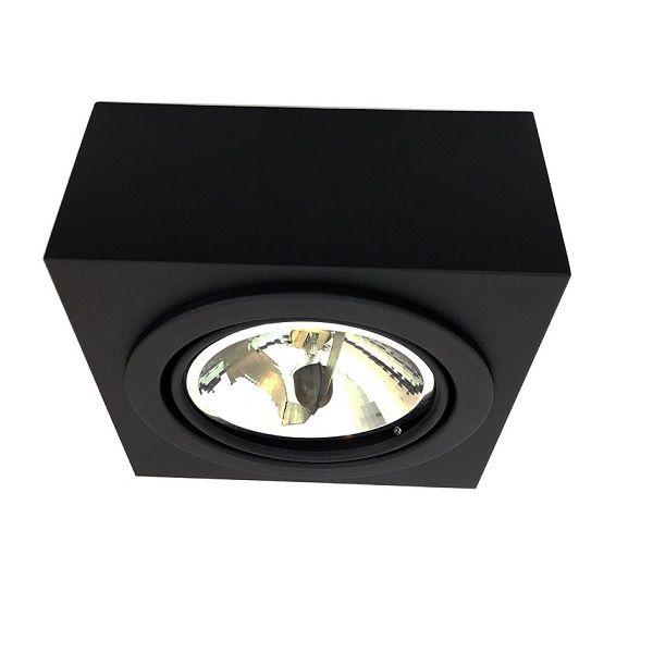 Plafon Spot Sobrepor Direcionável 1 Lâmpada AR111 Preto RL