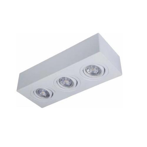 Plafon Spot Sobrepor Direcionável 3 Lâmpadas Par30 Branco RL