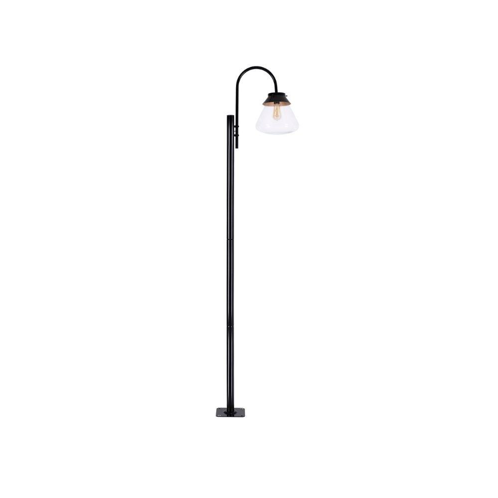 Poste De Jardim 230cm Memories 1 Lamp Metal Preto Madelustre