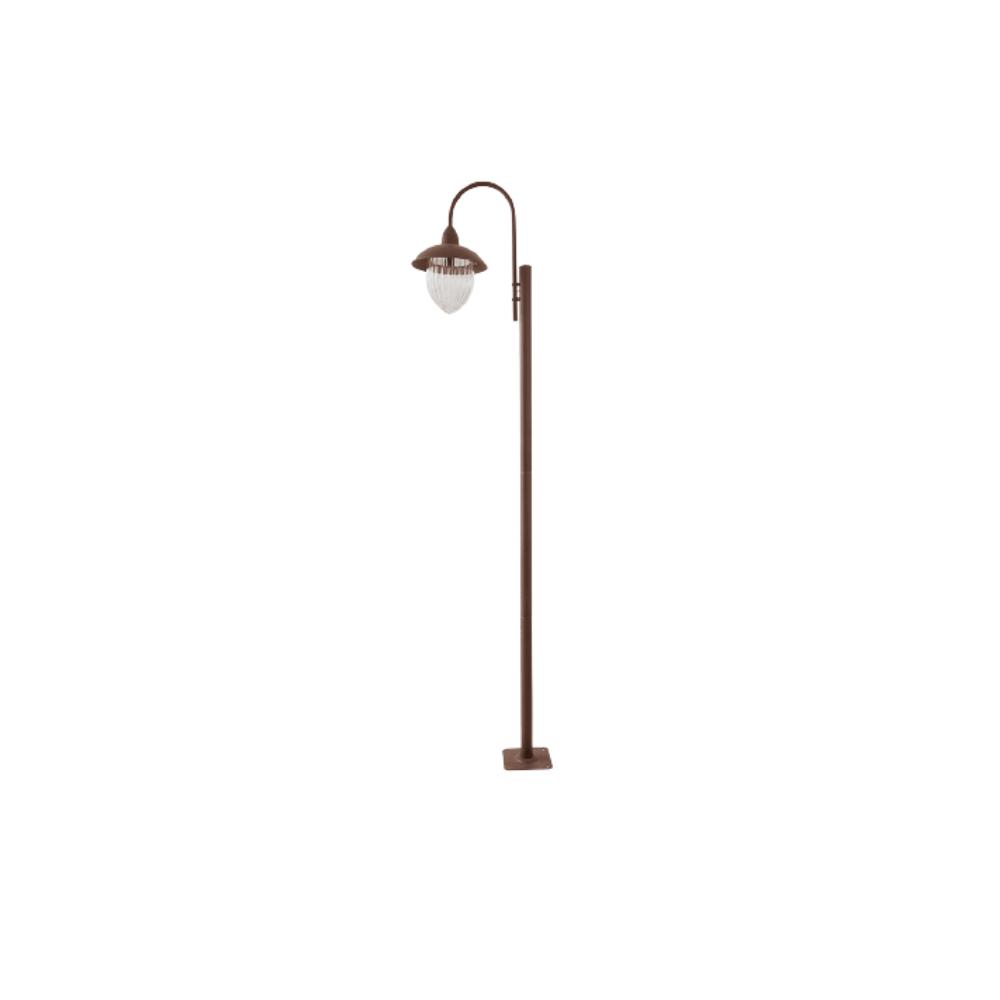 Poste De Jardim 230cm Veneza 1 Lamp  Marrom Madelustre