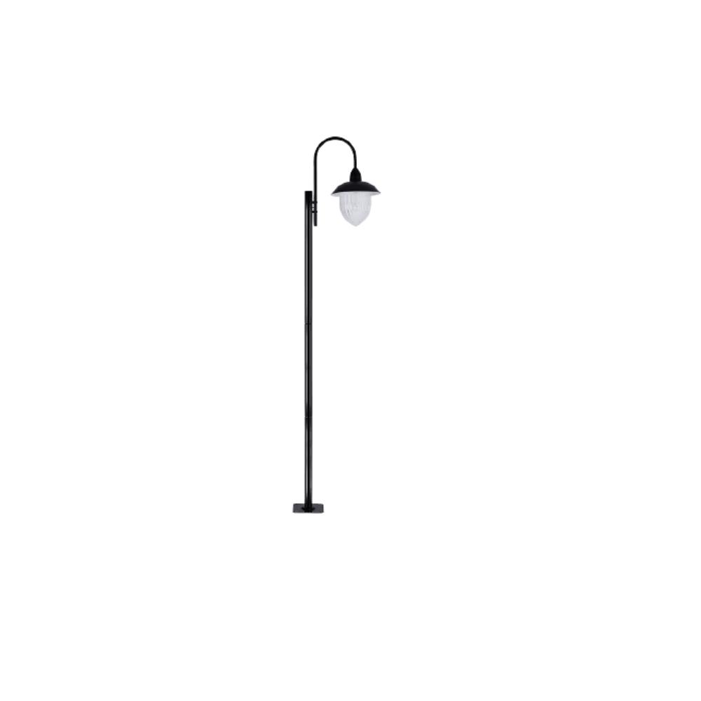 Poste De Jardim 230cm Veneza 1 Lamp Preto Madelustre