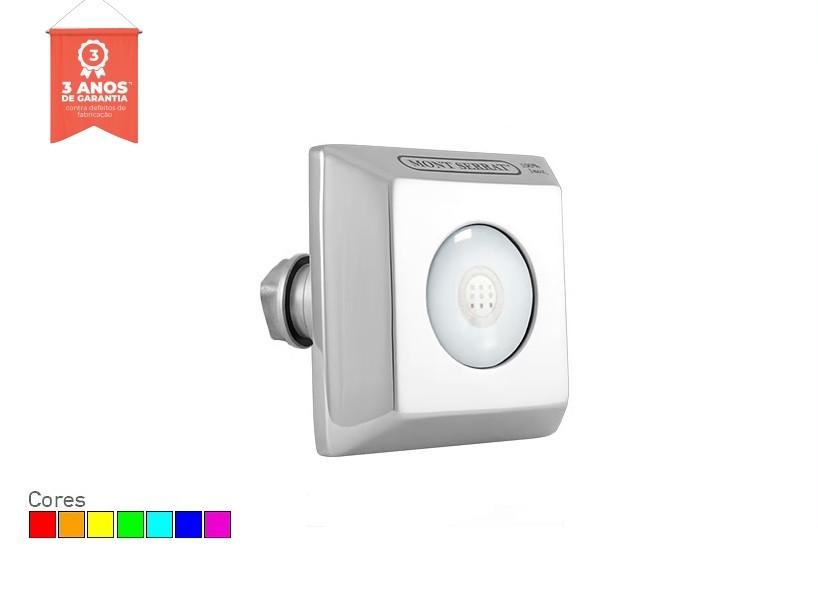 Refletor LED RGB 10w Quadrado para Piscina de Alvenaria