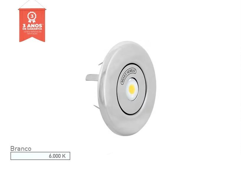 Refletor LED para Piscina Redondo 10w Nicho 6.000K Branco