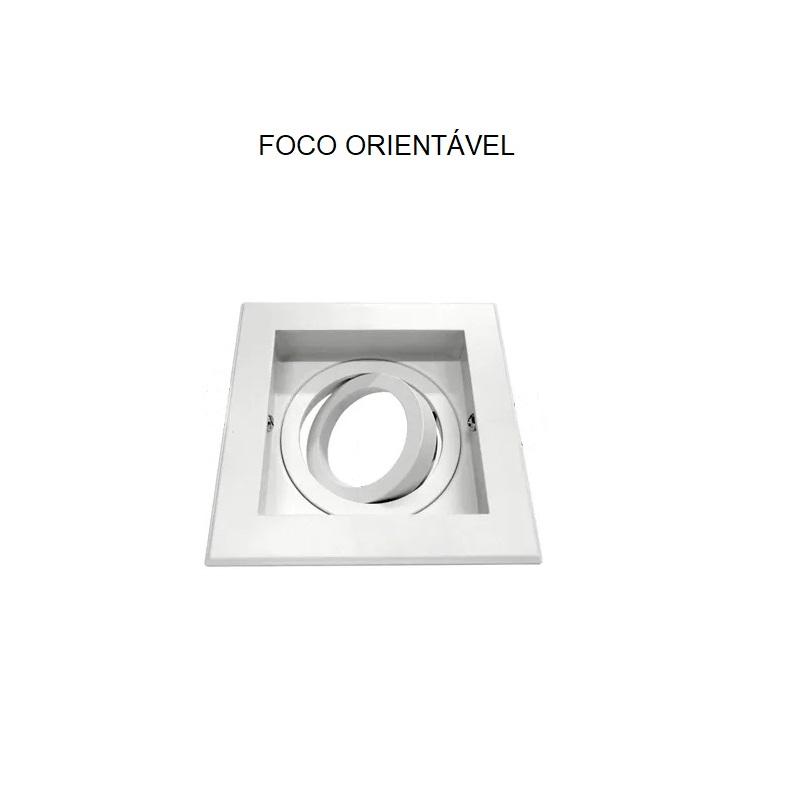Spot Quadruplo Embutir Quadrado Recuado Branco Para Dicróica Gu10 Mr16