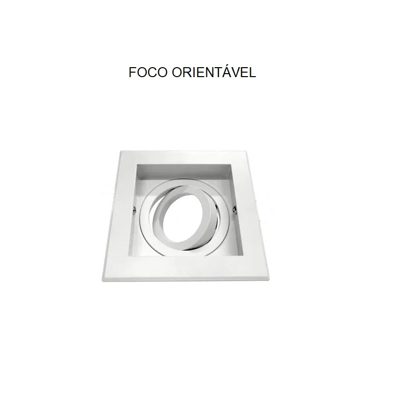 Spot Quadruplo Embutir Quadrado Recuado Branco Para Par30 E27