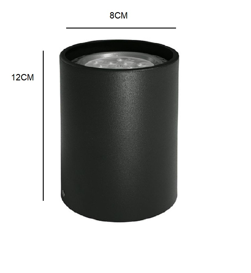 Spot Sobrepor Redondo Gu10 Dicróica Direcionável Preto