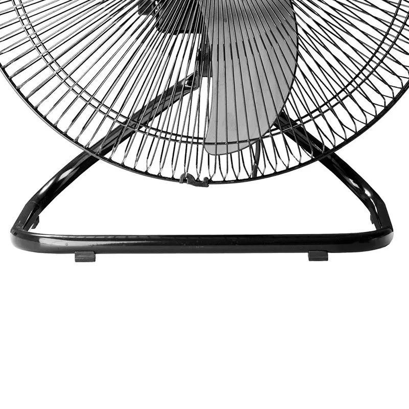 Ventilador de Mesa com Controle Remoto 50cm Tufão Loren Sid Turbo Preto Aço Bivolt