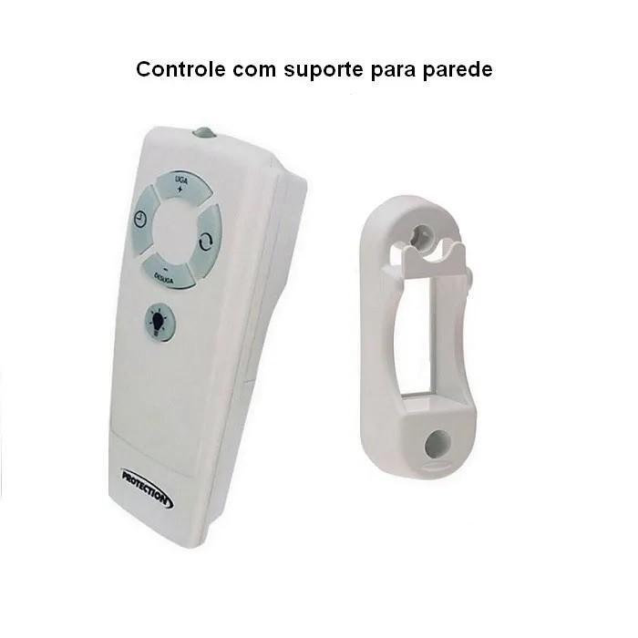 Ventilador De Parede Com Controle Remoto Tufão 60cm Preto Bivolt Loren Sid