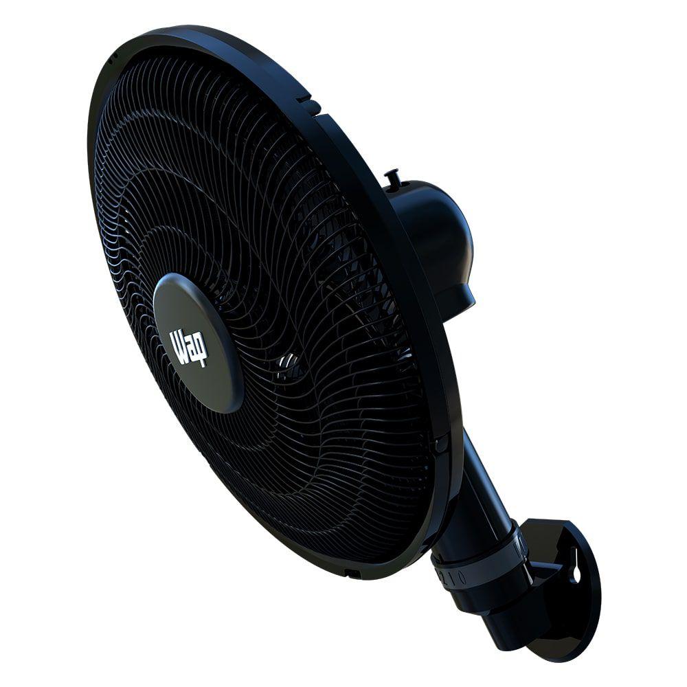 Ventilador de Parede 50cm Rajada Turbo Wap - Preto