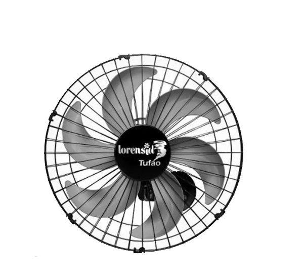 Kit 2 Ventilador De Parede Tufão 50cm Oscilante Preto Loren Sid