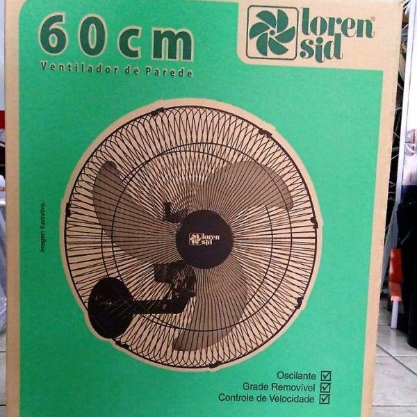 Ventilador De Parede Tufão 60cm Max Preto Bivolt M2 Loren Sid