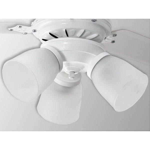 Ventilador De Teto 3 Lâmpadas Rubi Branco 3 Pás Transparentes Loren Sid
