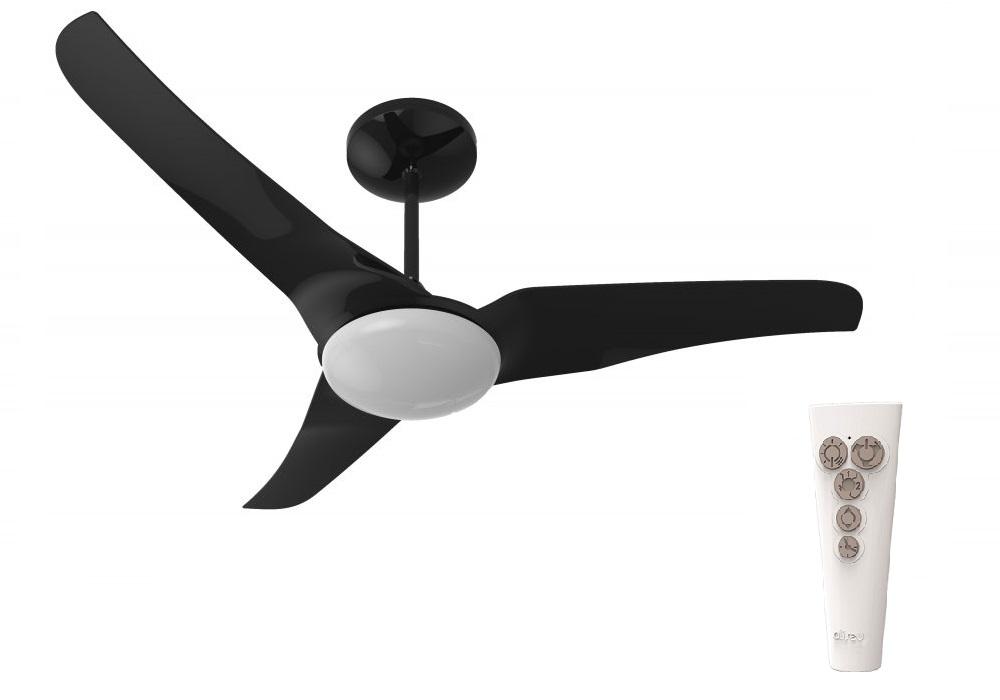 Ventilador de Teto Aliseu com Controle Remoto Slim LED Preto 127v
