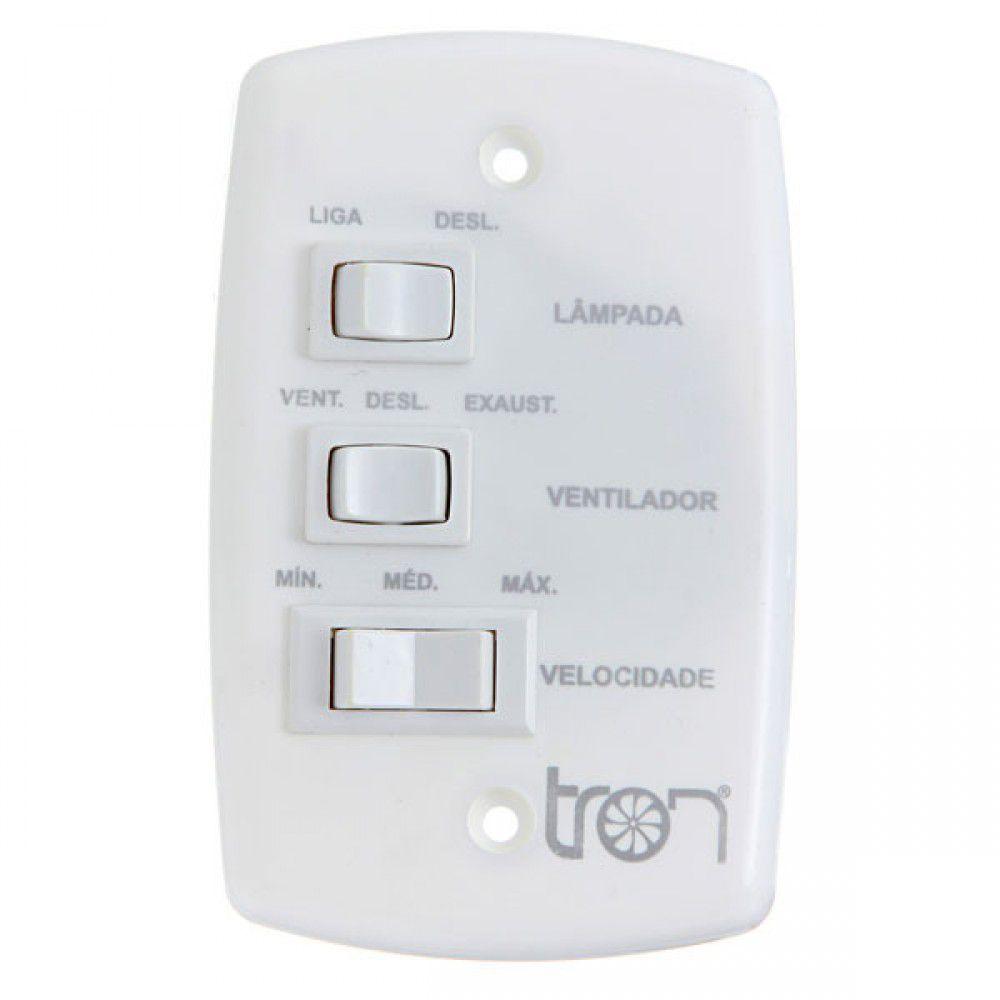 Ventilador de Teto Tron Citrino New Branco 3 Pás Brancas