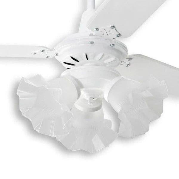 Ventilador de Teto com Controle Remoto 3 Lâmpadas Tulipa Loren Sid Branco