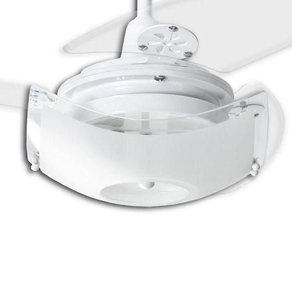 Ventilador de Teto com Controle Remoto Loren Sid Onix Quadrado Branco
