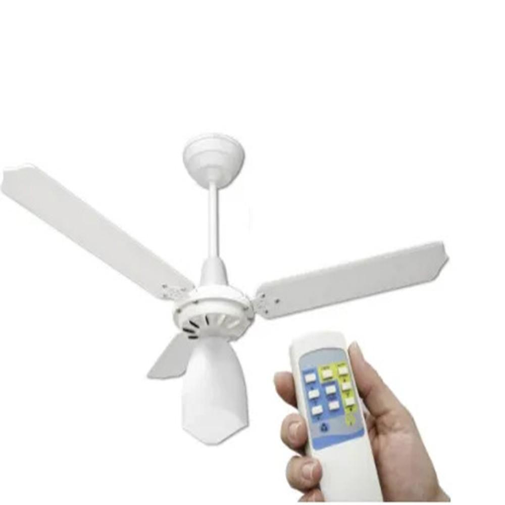 Ventilador de Teto com Controle Remoto Lumi Loren Sid Branco Pás Brancas